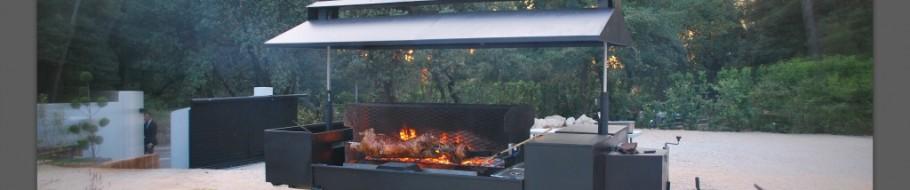 Plan Foyer Tourne Broche : Mechoui à domicile feu de bois sur tourne broche